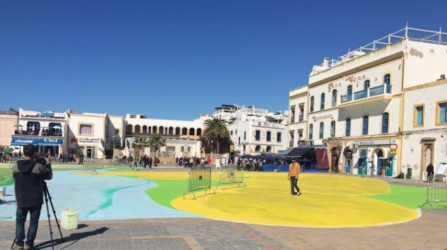 Biennale de Marrakech: Giacomo Buffarini en action à Essaouira