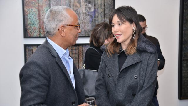 Yamou et Noelle Bouayad, propriétaire du restaurant Iloli