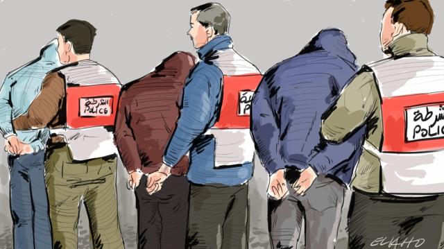 arrestation dessin