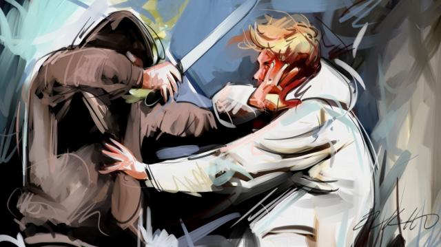 meurtre couteau dessin