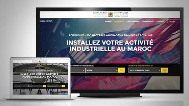 site digital foncier industriel au Maroc