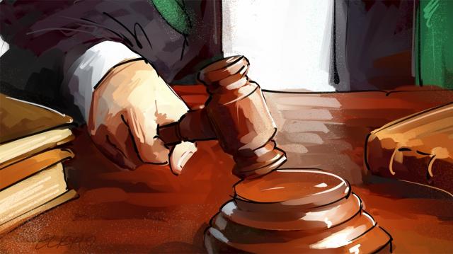 Justice tribunal verdict dessin