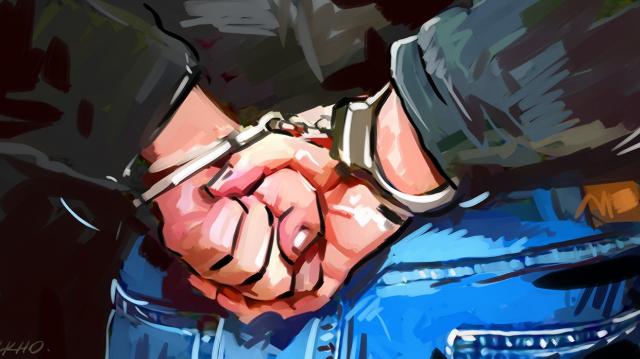 Arrestation menottes