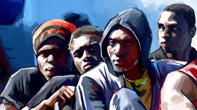 Immigration clandestine Subsahariens 3 dessin