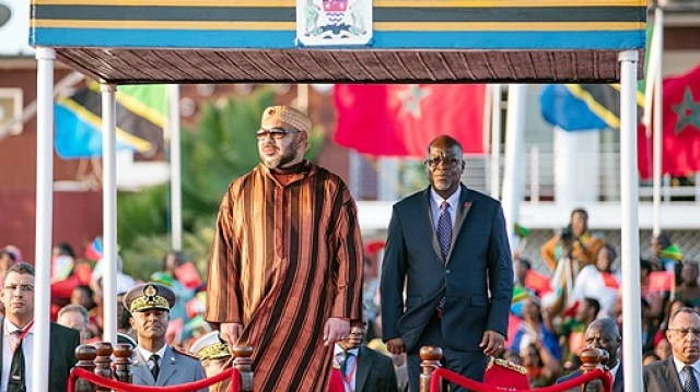 Mohammed VI en Tanzanie