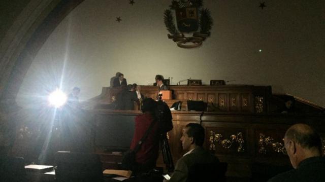 panne Parlement Venezuela