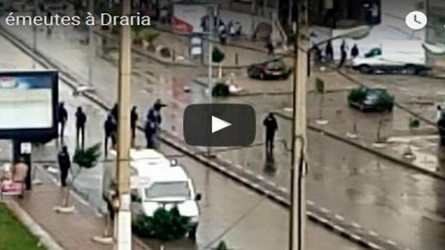 émeutes en algérie