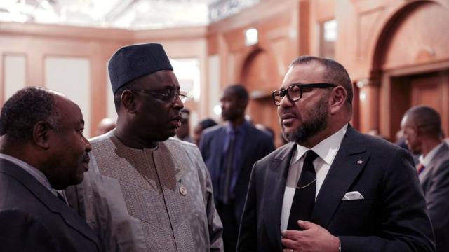 Diapo. Union africaine: lobbying de Macky Sall lors du dîner offert par Mohammed VI à Addis Abeba