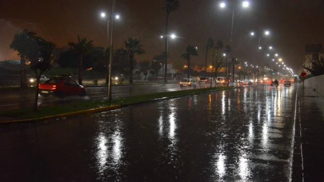 pluie a casablanca