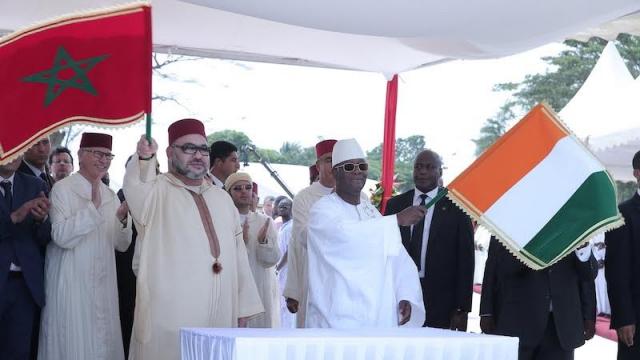 Roi Mohammed VI - président de Côte d'Ivoire Alassane Dramane Ouattara