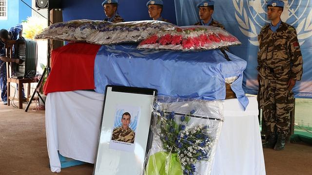 hommage Soldat Marocain Minusca