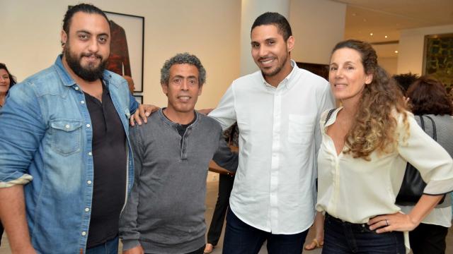 Les artistes Youssef Ouchra et Hassan Darsi, Othman Alami Lazraq / Alliances, Meryem Sebti / Diptyk.