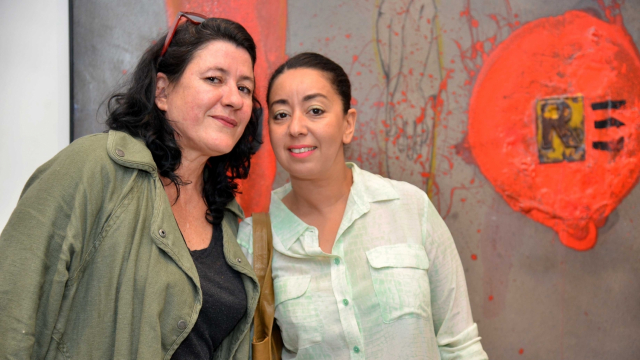 L'artiste Lamia Naji, l'actrice Amal Latrache