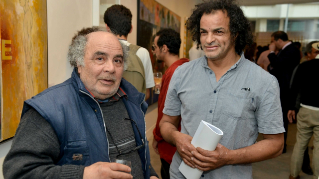 Les artistes Mohamed Abouelouakar et Mohamed Fariji