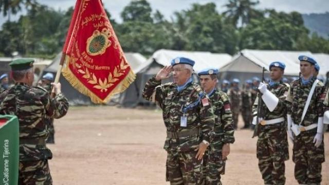 Centrafrique-Soldats marocains