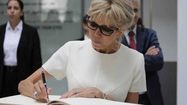 Brigitte Macron au Musée Mohammed V d'art moderne et contemporain