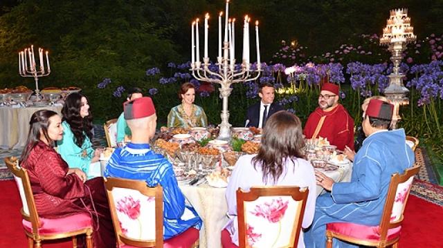 Dîner Mohammed VI-Macron