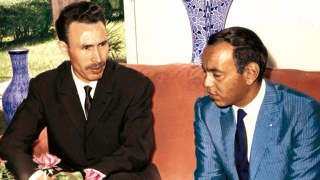 Le roi Hassan II et le président algérien Houari Boumédiène. / Ph. DR