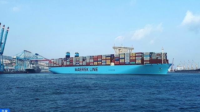 Le plus grand porte conteneurs au monde fait escale tanger med - Prenom le plus porte au monde ...