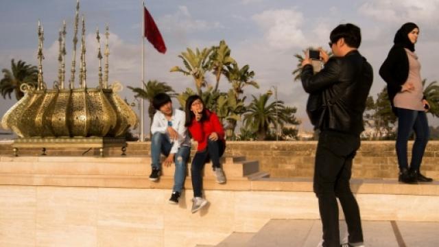 Touristes au Maroc
