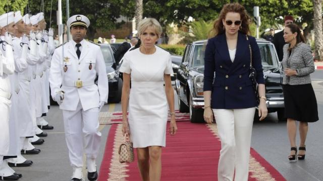 Brigitte Macron et Lalla Salma