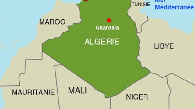 carte mauritanie-Algérie