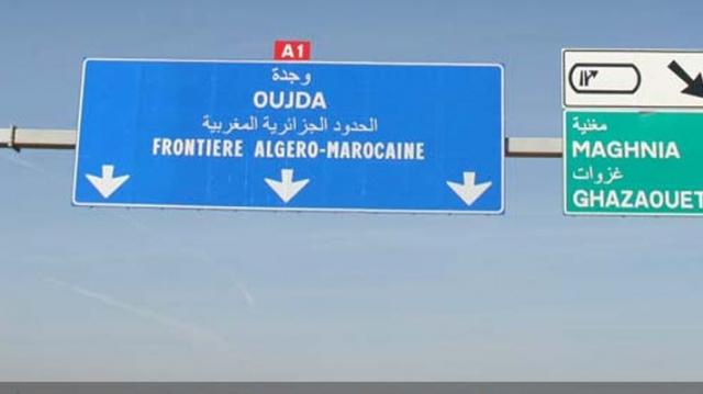 Panneau frontière Algérie Maroc