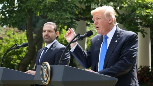 Donald Trump et Saad Hariri