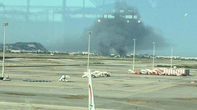 Incendie-aéroport-Barcelone3