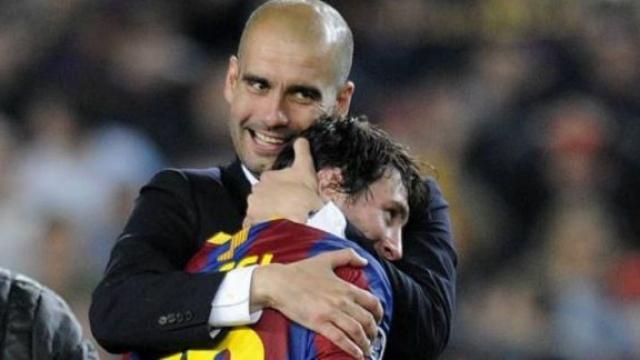Messi et Guardiola