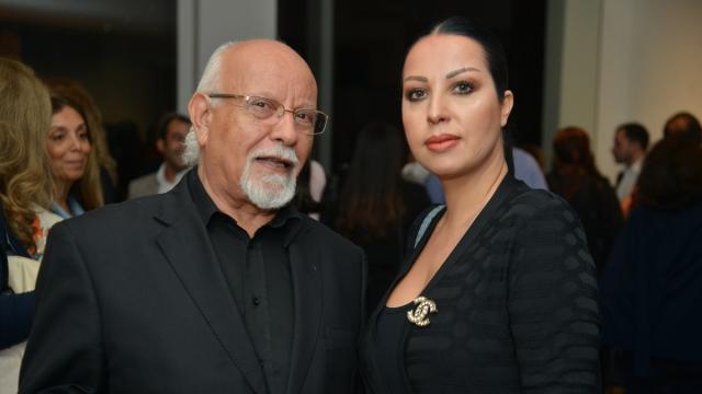 Mohammed Melehi et son épouse Khadija