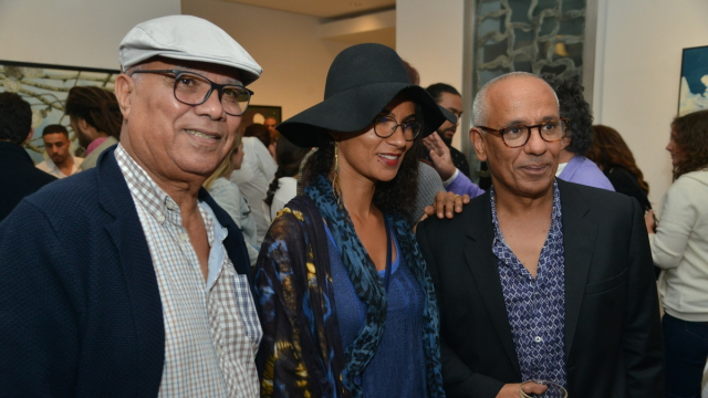 La chanteuse Oum et son père et Yamou