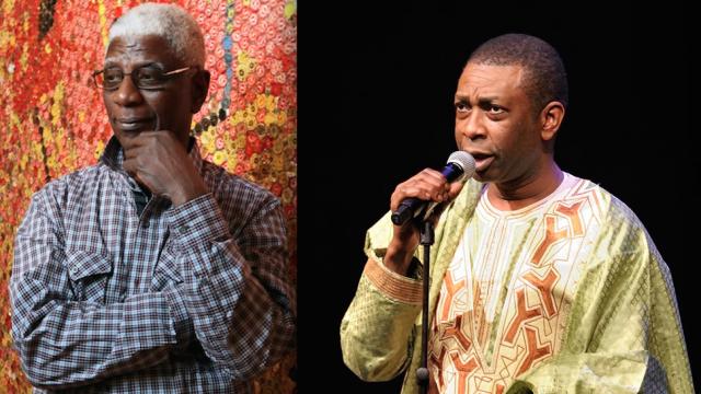 El Anatsui et Youssou Ndour