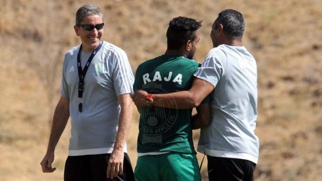 Garrido et joueurs du Raja