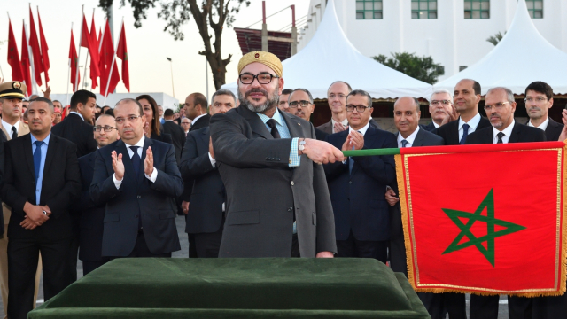 Roi Mohammed VI Inauguration Tram Tramway Rabat