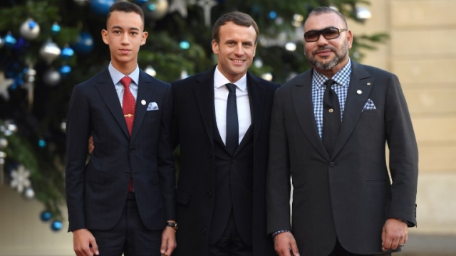 Moulay El Hassan Macron Mohammed VI