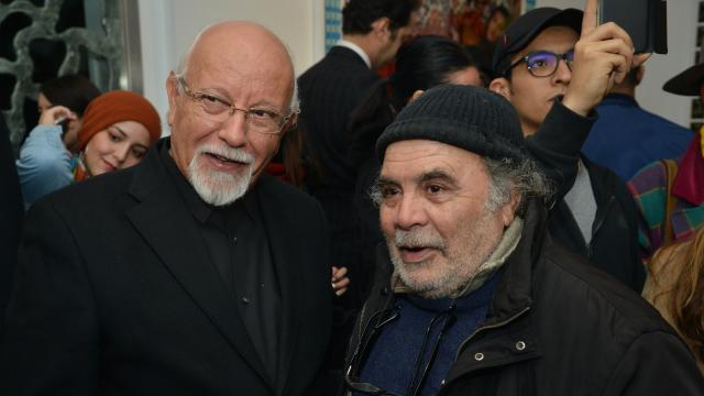 Les artistes Mohamed Melehi et Mohamed Abouelouakar
