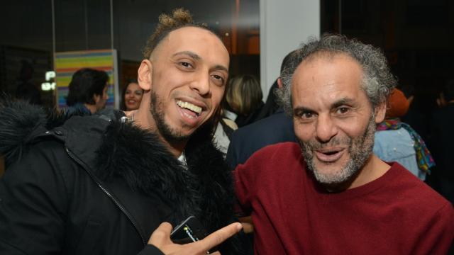 Komy et l'artiste Hassan Hajjaj