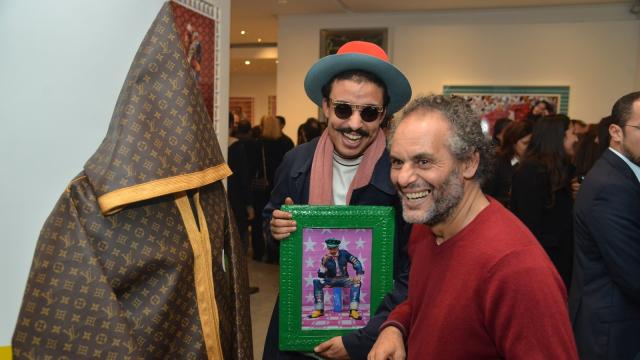 Amine Bendriouch et l'artiste Hassan Hajjaj
