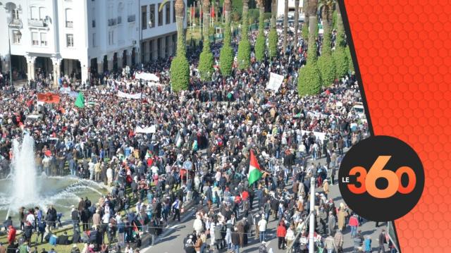 Cover Video -Le360.ma •القدس توحد الاطياف السياسية المغربية في مسيرة الرباط