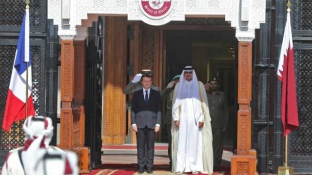 Macron-Emir Qatar