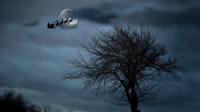 Père Noël traineau 2