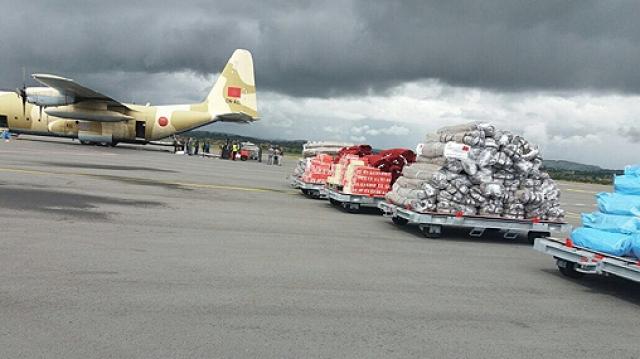 Arrivée-de-laide-humanitaire-marocaine-au-profit-de-Madagascar