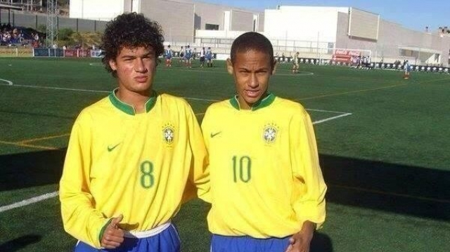 Coutinho et Neymar en U15 du Brésil