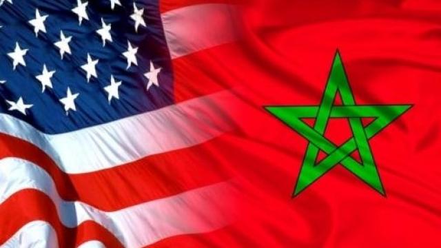Etats-Unis Maroc drapeaux