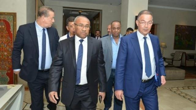 Fouzi Lekjaa et Ahmed Ahmed