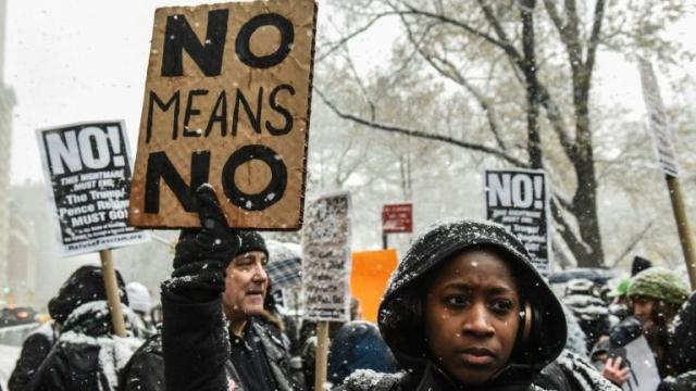 Manifestation anti harcèlement USA