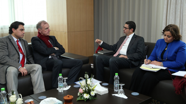 Mohamed Abdennabaoui et Bogdan Klich
