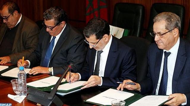 signature de la charte de la majorité