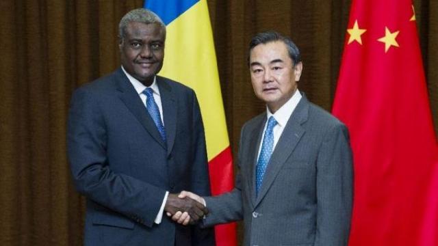 Wang Yi et Moussa Faki Mahamat